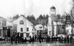 Before the church was raised in 1866